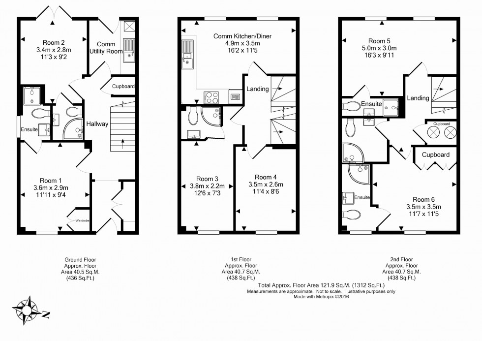 Floorplan for Chrysanthemum Drive, Shinfield