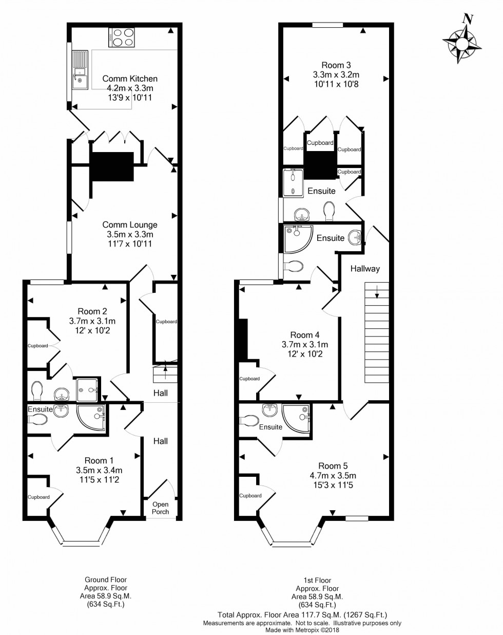 Floorplan for Bath Road, Reading