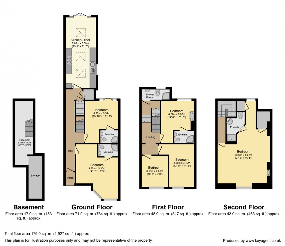 Floorplan for College Road, Reading
