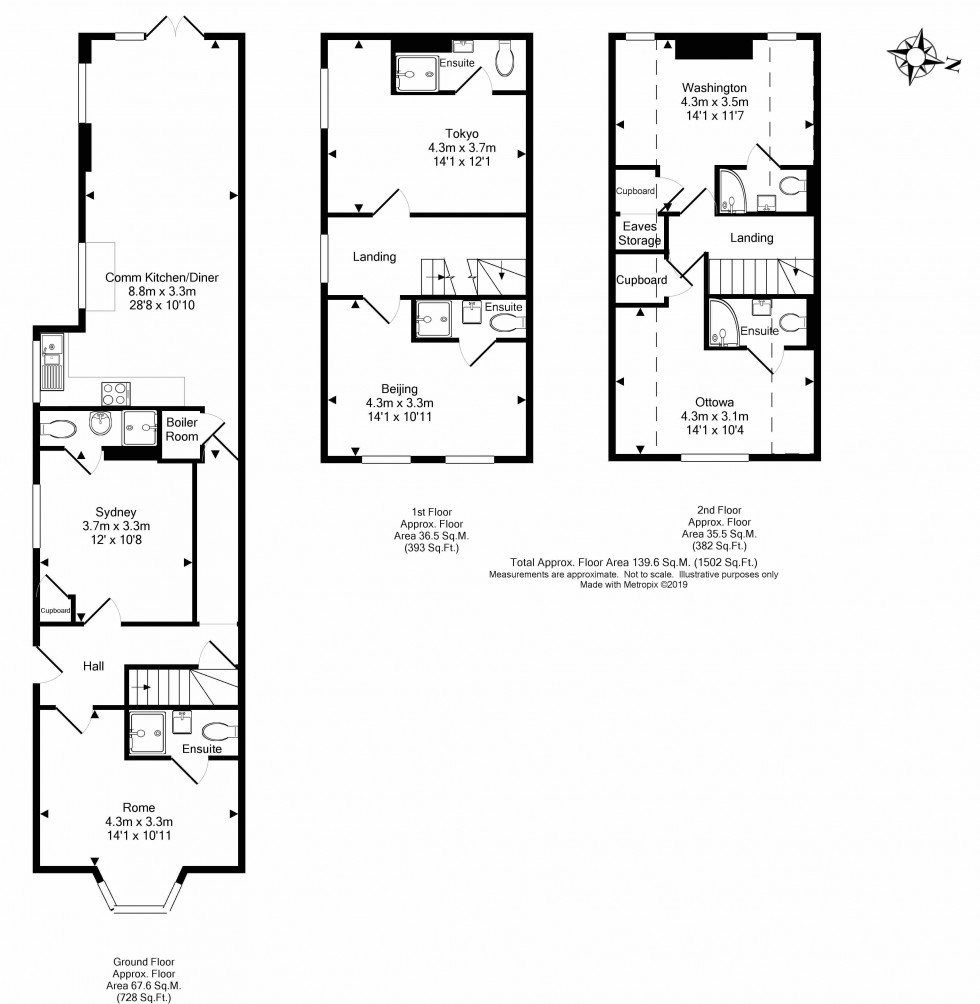 Floorplan for Hemdean Road, Caversham, Reading