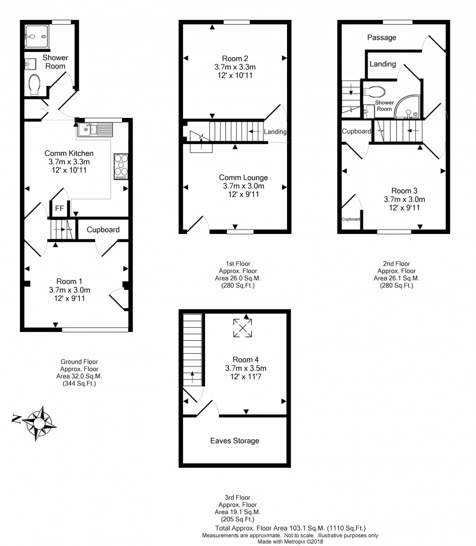 Floorplan for Alpine Street, Reading