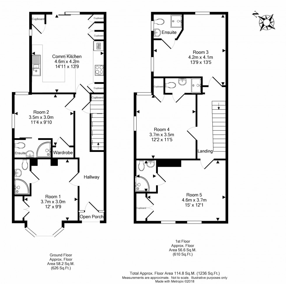 Floorplan for St. Peters Road, Reading