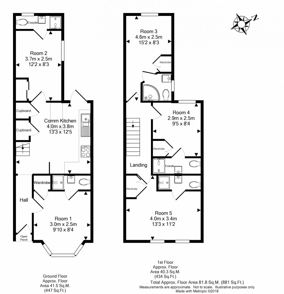 Floorplan for Franklin Street, Reading
