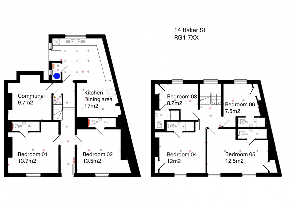 Floorplan for Baker Street, Reading
