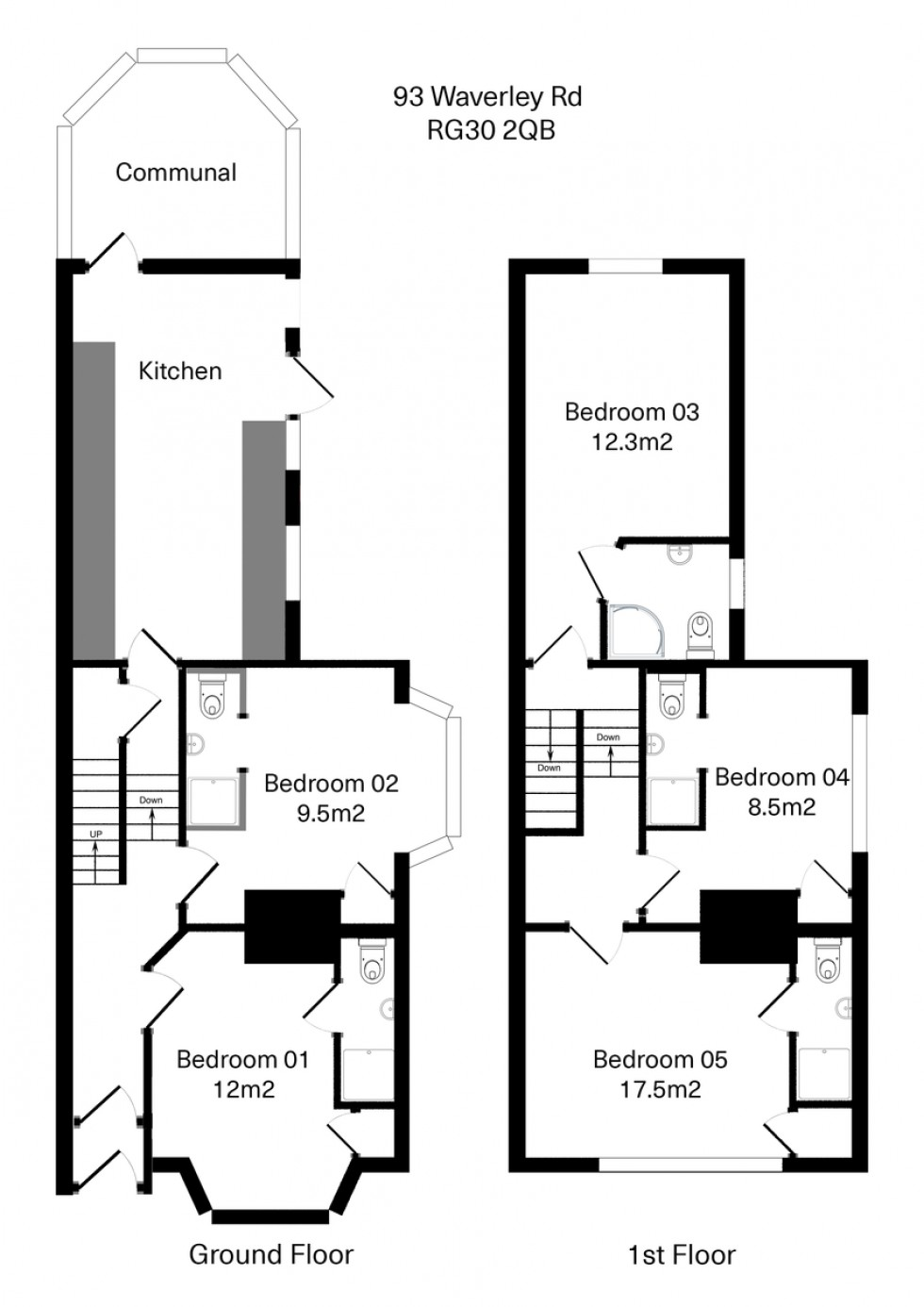 Floorplan for Waverley Road, Reading