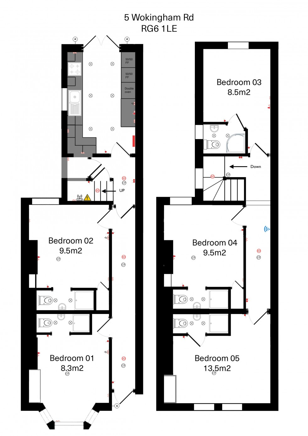 Floorplan for Wokingham Road, Reading