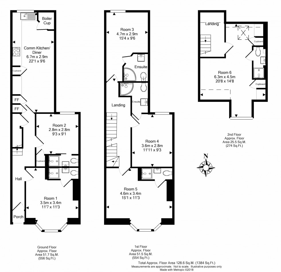 Floorplan for Vastern Road, Reading