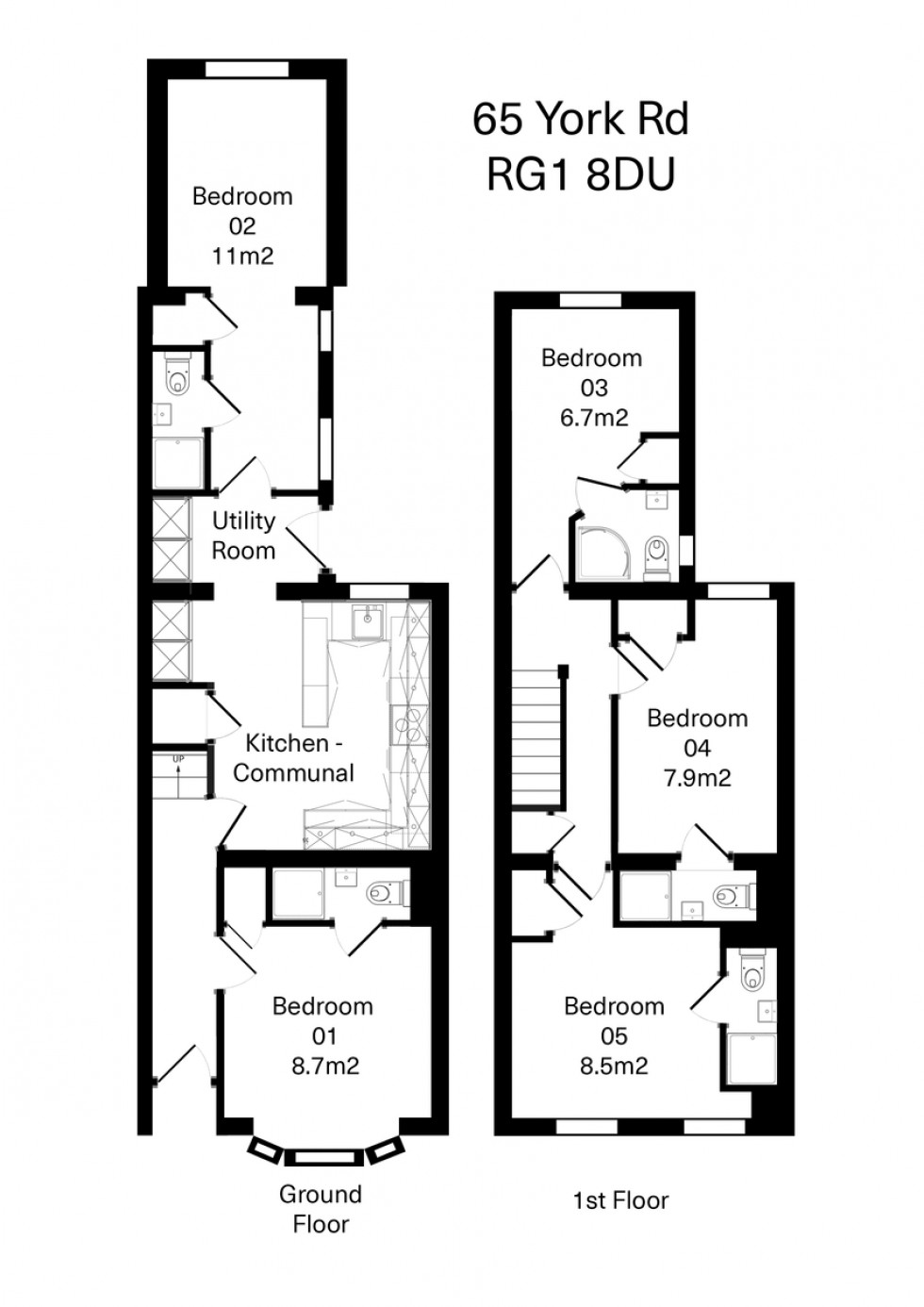 Floorplan for York Road, Reading