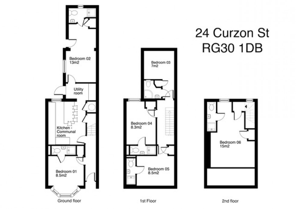 Floorplan for Curzon Street, Reading