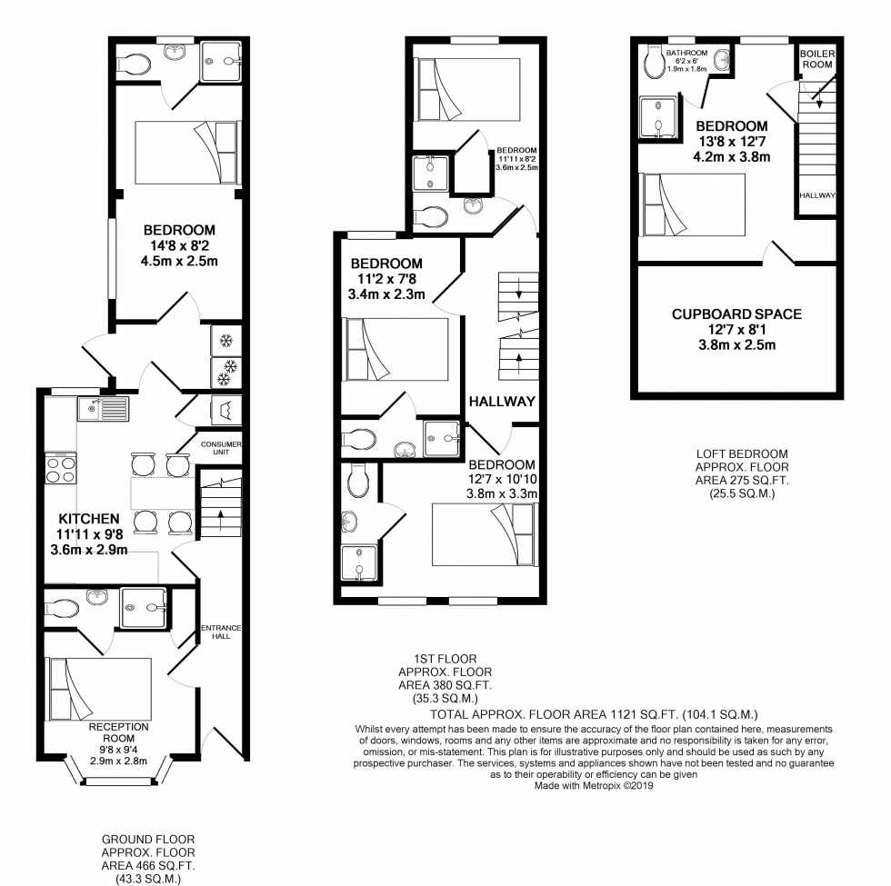 Floorplan for Caversham, Reading, Berkshire