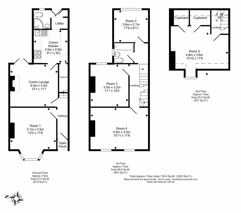 Floorplan for Kensington Road, Reading